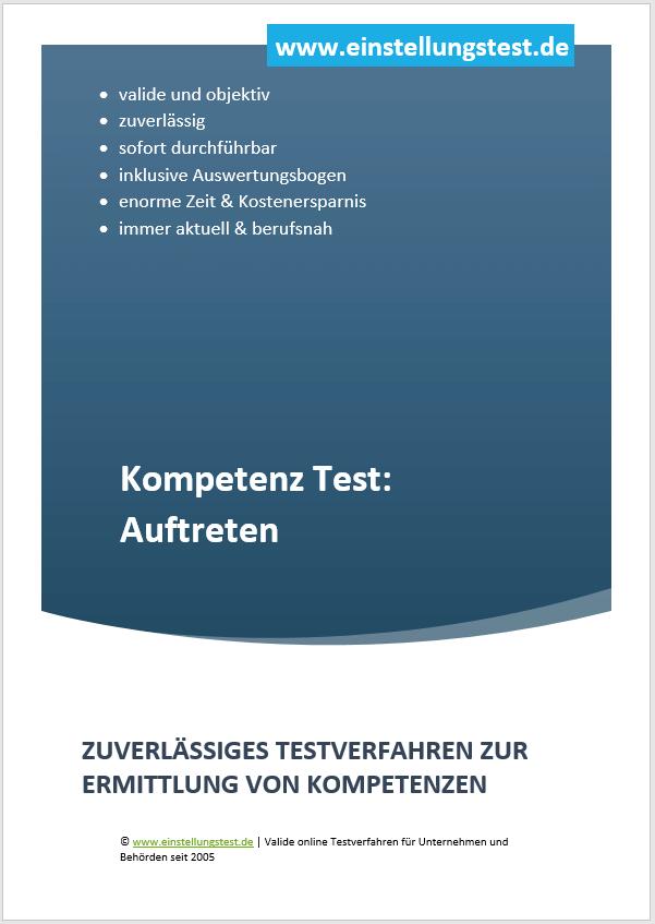 Einstellungstest im Auswahlverfahren: Auftreten