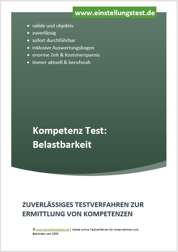 Einstellungstest im Auswahlverfahren: Belastbarkeit