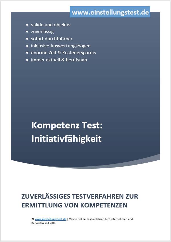 Einstellungstest im Auswahlverfahren: Initiativfähigkeit