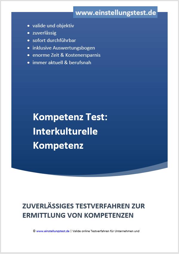 Einstellungstest im Auswahlverfahren: Interkulturelle Kompetenz