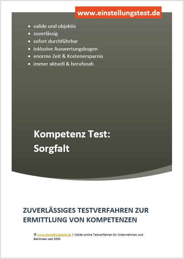 Einstellungstest im Auswahlverfahren: Sorgfalt
