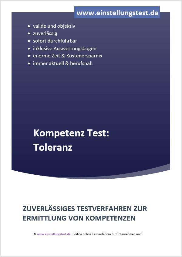 Einstellungstest im Auswahlverfahren: Toleranz